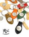 【イルビゾンテ IL BISONTE】レザー コンチョ メダル付き キーホルダー・545230505