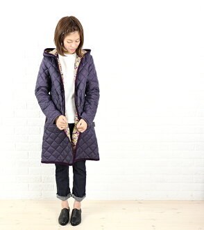 "Liberty quilted coat with hood LAVENHAM (lavenham) polyester ""BRUNDON LIBERTY""-BRUNDON-LIB-0321302"