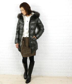 "Hood middle-length coat with fur DUVETICA (duvetica down) nylon down ""KAPPA"", KAPPA-0061302"