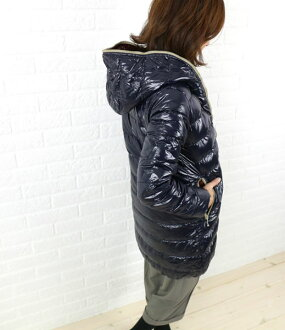 "Middle-length coat hooded DUVETICA (duvetica down) nylon down ""ACE"" and ACE-0061302"