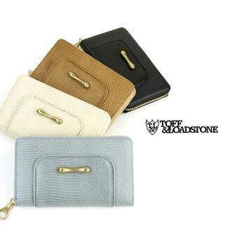 """TOFF&LOADSTONE( トフ & lodestone) leather round fastener long wallet """"Delice Lizard Wallet"""", TLA-324-1471302"""