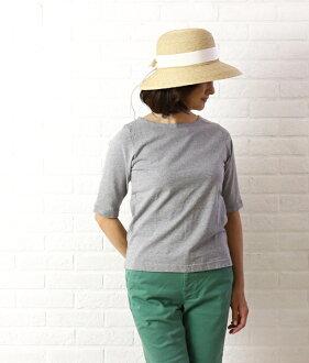 Dana Faneuil (ダナファヌル) cotton neck half sleeve cut & sew-D-5311204-0231301