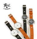 【イルビゾンテ IL BISONTE】レザー カレンダー付き クォーツ式 クロノグラフ 腕時計 リストウォッチ(L)・54162304197-A-0061601...