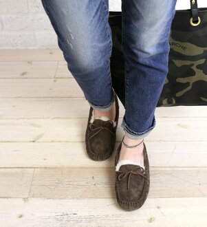 ".5612-2,451,302 UGG Australia( アグオーストラリア) suede cloth moccasins ""W DAKOTA"" fs3gm"