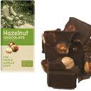 【送料無料(メール便)】フェアトレード  ヘーゼルナッツチョコレート 地球食 100gx2個セット