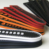 Rubber Cabon Hole Style / 20mm 22mm 24mm / Black White Red Navy Orange Stitching and Stainless Buckle / �ӻ��� �٥�� �Х�� ���ȥ�å� ���ꥳ�� ��С���10P09Jul16��