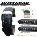 ショッピングmiddle Easy Click Smooth Style 20mm 22mm Water Resistant Genuine Leather and Stainless Satin Silver Middle Buckle / 時計ベルト 時計バンド 時計ストラップ【750120】