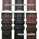 楽天ブリスショップ(楽天市場店)【送料無料】Buffalo Heavy Stitching Style 18mm 20mm 22mm Italian Calf Leather and Stainless Mirror Silver Buckle / 時計 ベルト バンド ストラップ バッファロー ブラック ブラウン ダークブラウン