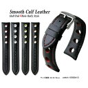 楽天ブリスショップ(楽天市場店)【送料無料】Smooth Calf leather Half Pad 4Hole Rally Style and Stainless Satin Silver Buckle / 腕時計 ベルト バンド ストラップ カーフレザー ラリー 型押し レッド ホワイト イエロー オレンジ