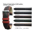 楽天ブリスショップ(楽天市場店)【送料無料】Nubuck Style 18mm 20mm 22mm Italian Calf Leather Color Stitching - Pad Profile - and Stainless Buckle / 時計ベルト 時計バンド 時計ストラップ