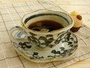 美濃焼アウトレット/ギフト対象外 手描きタコ唐草コーヒーカップ&ソーサー【碗)径11x高6cm/220ml】【Coffee cup,made in japan】【bloom-plus】
