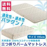 マット マットレス シングル 三つ折りパームマットレス 天然パームマット ココナッツパームマット ベッド 三つ折り 二段ベッド 三段ベッド 子供用ベッド【 送料込 】