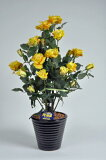 ばら(バラ・薔薇)2本立 黄(イエロー)光触媒とアミノ酸のダブルコーティング 消臭力と抗菌力を発揮するアートフラワー(造花)【smtb-s】