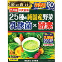 日本薬健 金の青汁 25種の純国産野菜 乳酸菌×酵素  60包【正規品】