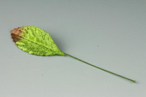《 布花・ アートフラワー用リーフ 》 バラリーフ 茶ボカシ(小) 10枚入り