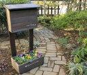 【木製ポスト】ポスト 木製 【送料無料】プランター付きポスト エクステリア 郵便受け スタンド ガーデンメールボックス