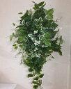 75cm・グリーン・ミックススワッググリーンのスワッグ・造花・外に飾るスワッグ・玄関リース・クリスマス・リース枯れないリース・外玄関のリース