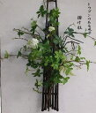 どうだんのある風景・掛け柱送料無料 【楽ギフ_メッセ入力】【楽ギフ_包装】和の贈り物・和花の壁掛け・盆栽・どうだんグリーンの花・グリーンの花・アートフラワー・造花・枯れない花お祝いの花〔和風の花〕・光触媒・CT触媒敬老の日・父の日・