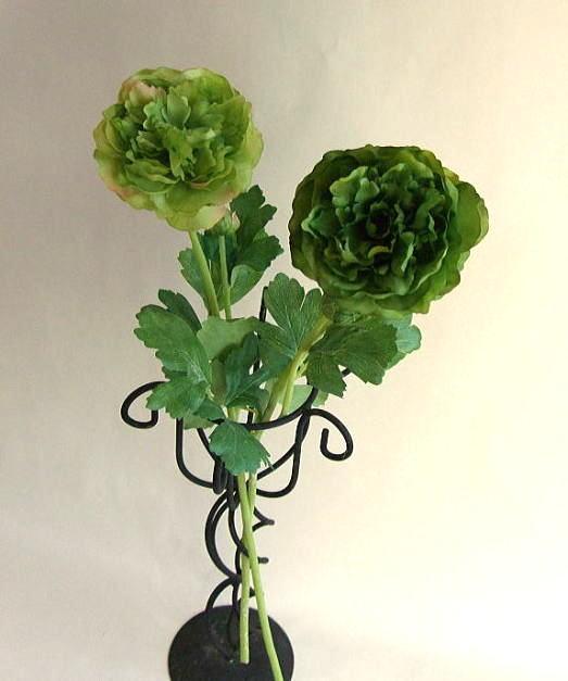 グリーンのラナンキュラス一本立ちラナンキュラス・グリーンのお花・造花・アートフラワー・シルクフラワー造花・CT触媒・枯れない花・光触媒・