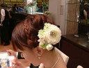 オールドローズの髪飾り二個セット髪飾り・ヘアドレス・ブライダル・結婚式の髪飾り