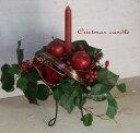 クリスマス・キャンドルデザインクリスマスアレンジ・造花・キャンドルアレンジクリスマス・ブライダルデザイン・ティスプレイ