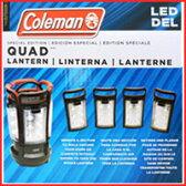 Colemanコールマン 『LEDランタン』 クアッド ランタン QUAD 4分割 着脱式 電池式 ブラック キャンプ バーベキュー BBQ アウトドア 釣り 非常用 防災 キャンプ用 LEDランタン ライト 限定 ブラック