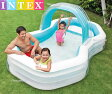 INTEX インテックス ビニールプール シャワー 付き 家庭用『カバナプール』 子供用プール ファミリープール 3.1m×1.88m×1.3m レジャー用品 プール 家庭用 簡単設営 こども用 野外 屋外