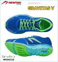 慢跑, 馬拉松 - 【送料無料!】 NEWTON(ニュートン) レディース ランニングシューズ GRAVITAS V (グラビタス5) Blue/Green(ブルー×グリーン)[W000216] ※返品・交換不可商品となります。