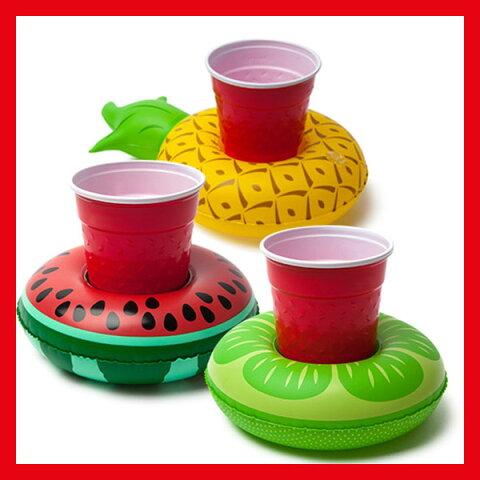 [ビバレッジボード]【フルーツ】(3個入り)[BMDF−TR]inflatable pool partyフォトジェニック インスタ映え♪飲み物もプカプカさせちゃお☆