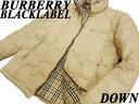 【中古】●バーバリーブラックレーベル BURBERRY BLACK LABEL●美品 羽毛ホワイトグ ...