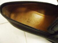 【中古】●ルイヴィトンLOUISVUITTON●高級レザーローファーロゴ刻印ST0024イタリア製