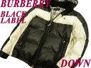 【中古】●バーバリーブラックレーベル BURBERRY BLACK LABEL●上質フーテッドダウン ...