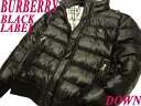 【中古】●バーバリーブラックレーベル BURBERRY BLACK LABEL●羽毛ダウンジャケット ...