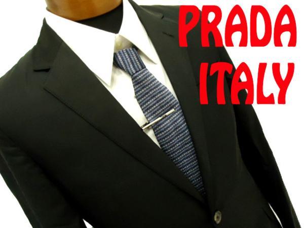 【中古】イタリア製◆プラダ PRADA テーラードジャケット 正規品 黒