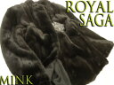 【未使用】●ROYAL ロイヤルサガミンク 逆毛ブラックミンク毛皮コート