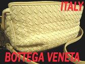【中古】高級◆ボッテガヴェネタ◆イントレチャートレザーバッグ 正規品 イタリア製