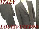 【中古】イタリア製●ルイヴィトン 高級品スーパー130'S 紳士スーツ