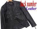 【中古】▼ライトオン バックナンバー 本革 ゴートレザー シングルライダースジャケット Right-on BACK NUMBER メンズ M ブラック 黒 山羊革