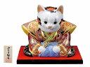 九谷焼 8.5号福助猫・盛