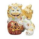 【九谷焼】  6.5号立獅子(右) 白盛