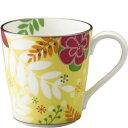 【NARUMI(ナルミ)】  フローラルパラダイス マグカップ(黄色) 205cc【創業明治元年の信頼と安心感】