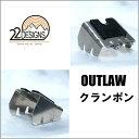 22デザインテレマークビンディング  OUTLAWアウトロー 専用クランポン 110mm