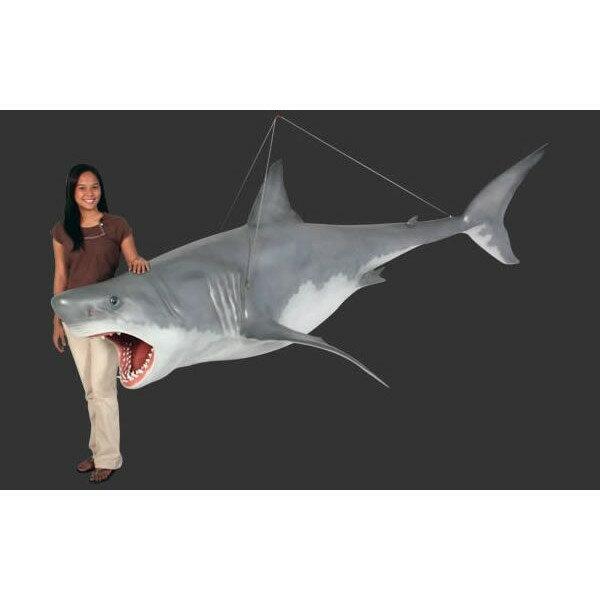 代引不可-全長3.3m!ジョーズ(サメ)巨大フィギュア・吊り下げタイプ(等身大フィギュア) 【RCP】