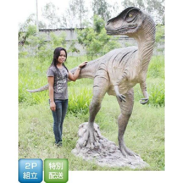 代引不可-高さ189cm!振り向くアロサウルス等身大フィギュア(恐竜等身大フィギュア)