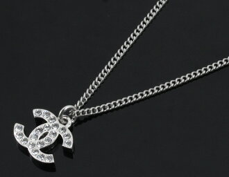 Chanel CHANEL Coco make necklaces ClearSilver A28942