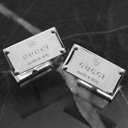 グッチ GUCCI カフス トレードマーク シルバー 123590 J8400 8106 メンズ