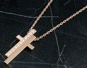 グッチ GUCCI ネックレス セパレート シンボル クロス ダイヤモンド 0.184ct ピンクゴールド 207076 J8540 5702 レディース