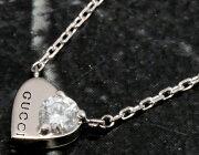グッチ GUCCI ネックレス ハート ダイヤモンド 0.08ct ホワイトゴールド 272767 J8540 9066 レディース