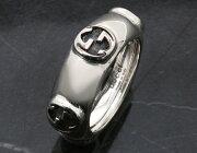 グッチ GUCCI リング【指輪】 GGアイコン シルバー&ブラック 341193 J8400 0701 メンズ レディース