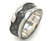 ボッテガヴェネタ BOTTEGA VENETA リング【指輪】 イントレチャート シルバー&グレー 369917 VX863 8177 メンズ